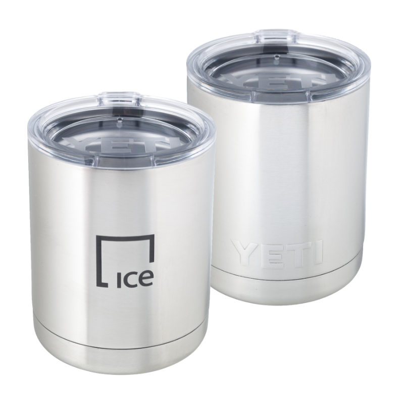 IE Drinkware-10oz Yeti Rambler Lowball-ICE
